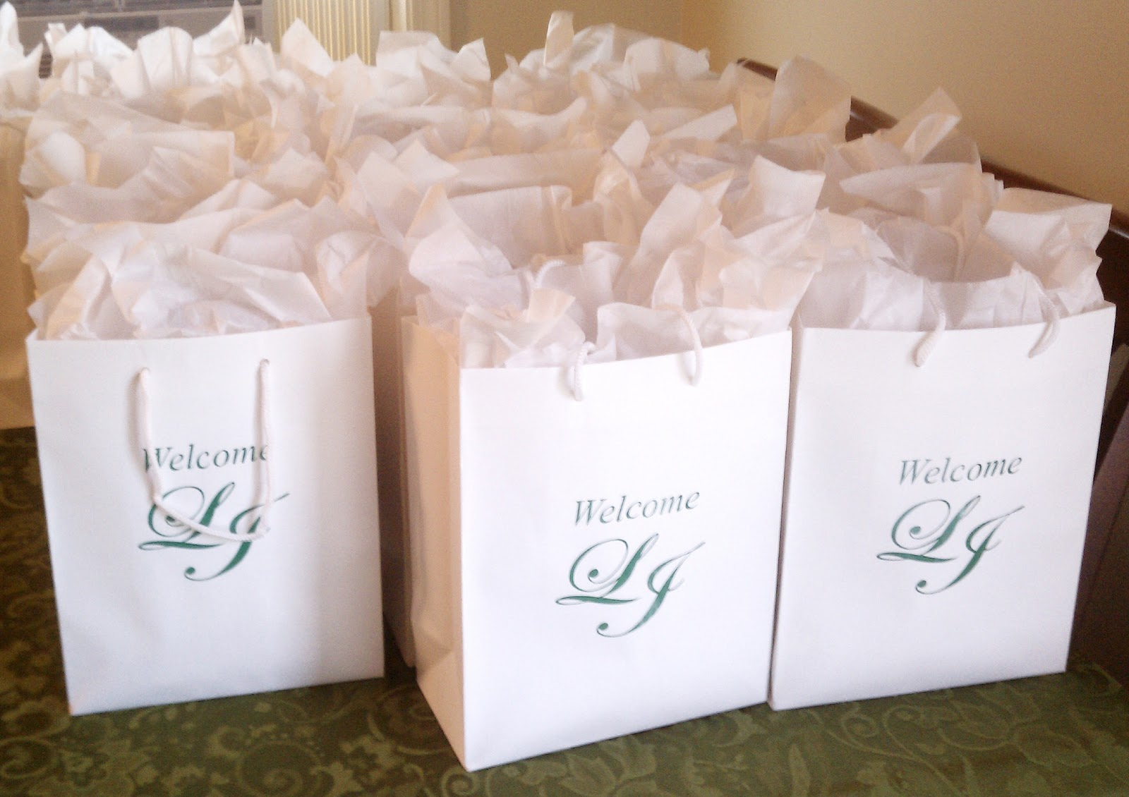 Eutopia Events: Wedding Day Welcome Bags