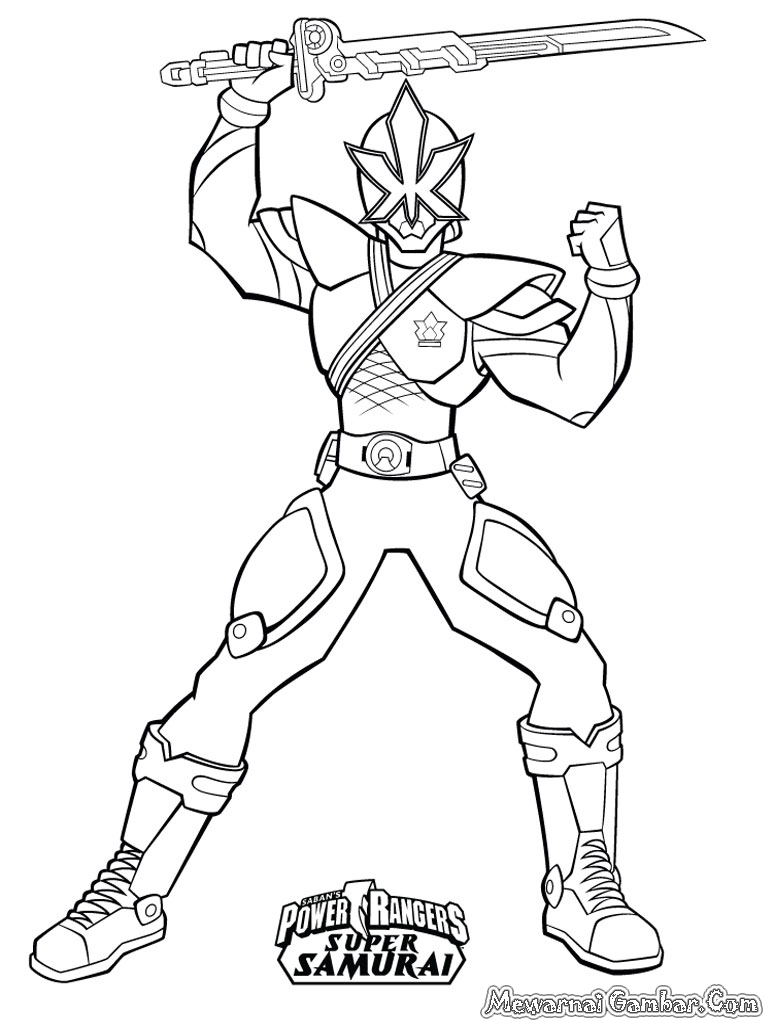 Sketsa Mewarnai Gambar Power Ranger