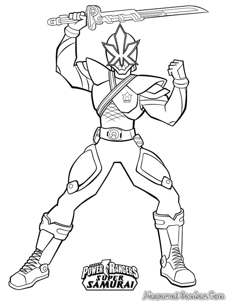Kumpulan Sketsa Gambar Power Ranger Untuk Diwarnai