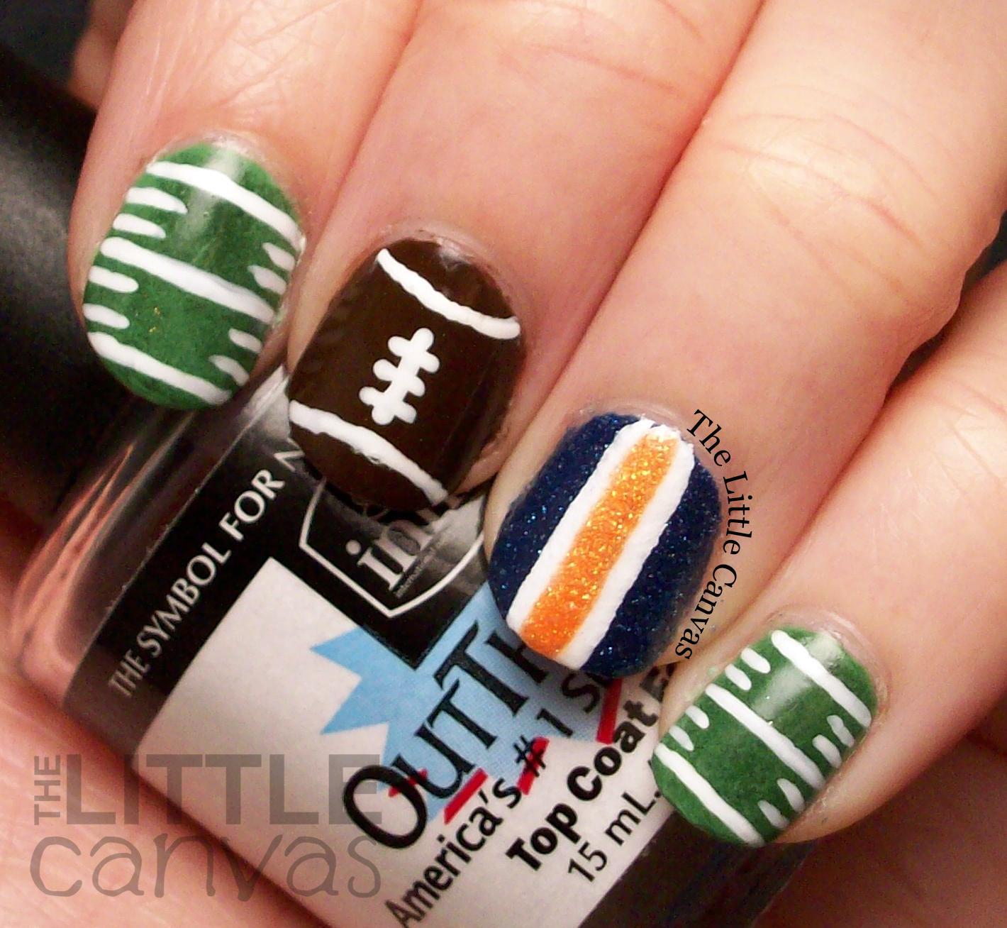 A Zoya Superbowl Manicure - Go Broncos! - The Little Canvas