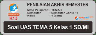 Soal UAS Tematik Tema 5 Kelas 1 Terbaru Semester Ganjil dan Kunci Jawaban