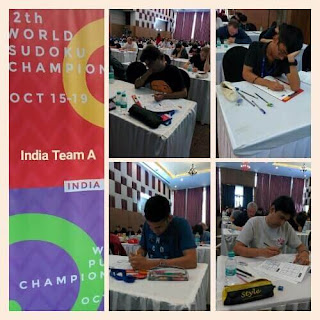 Team India A during World Sudoku Championship 2017