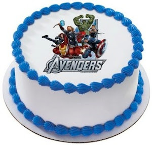 The Avengers Birthday Cake Topper
