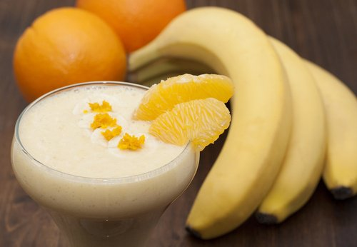 Smoothie banane et orange