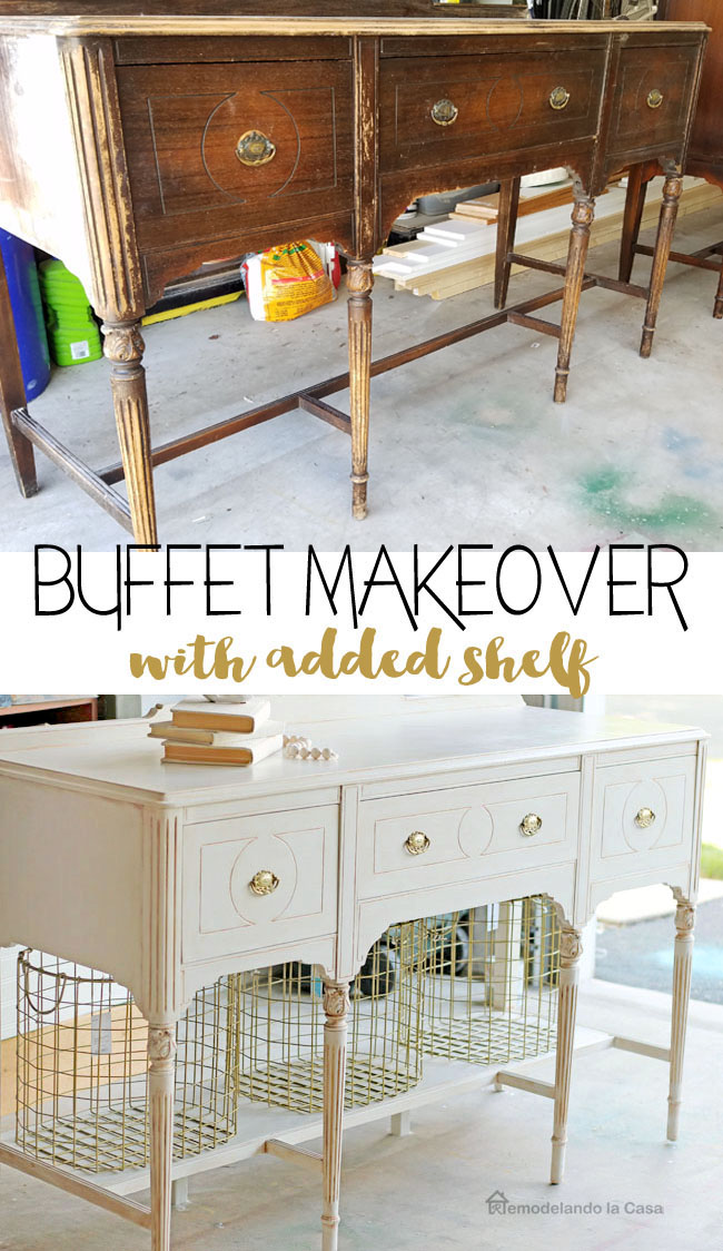 Rust-Oleum chalked paint gives new life to this dark buffet