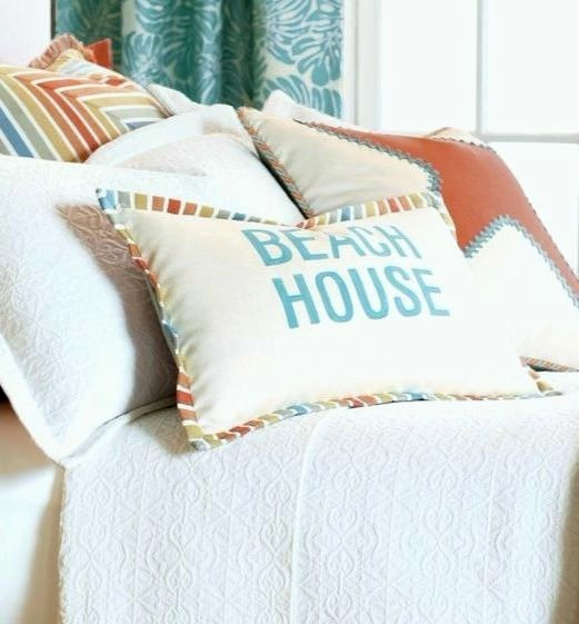 Coastal Beach Pillows by Easter Accents Made in USA