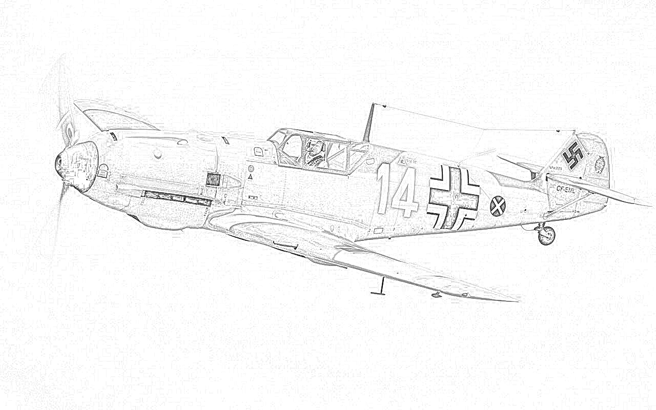 World war ii in pictures fighter coloring pages world war ii for Fighter plane coloring pages