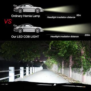 coppia lampada led auto fari hqq foyu