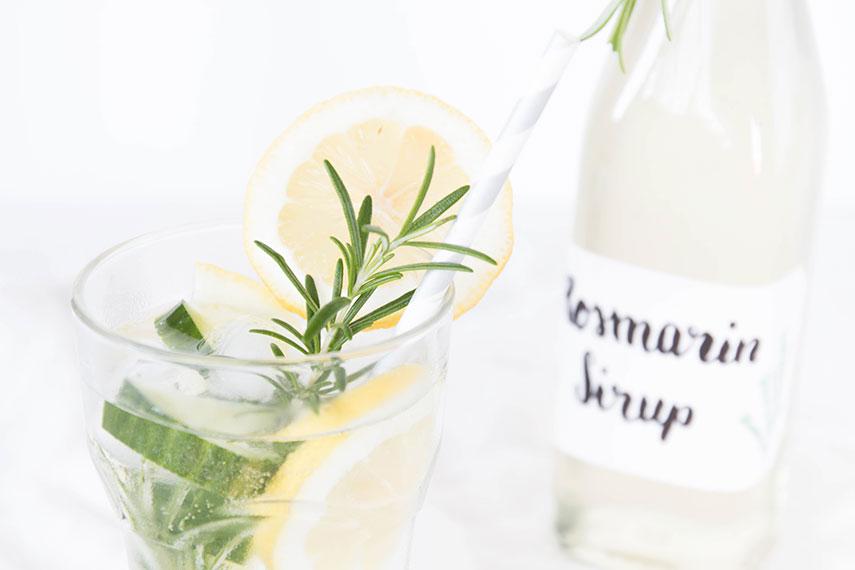 Rezept Rosmarin Zitronen Limonade