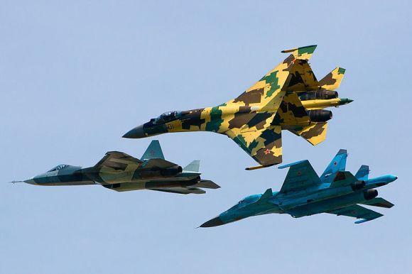 Sukhoi Su-35, Su-34 terbang bersama T-50