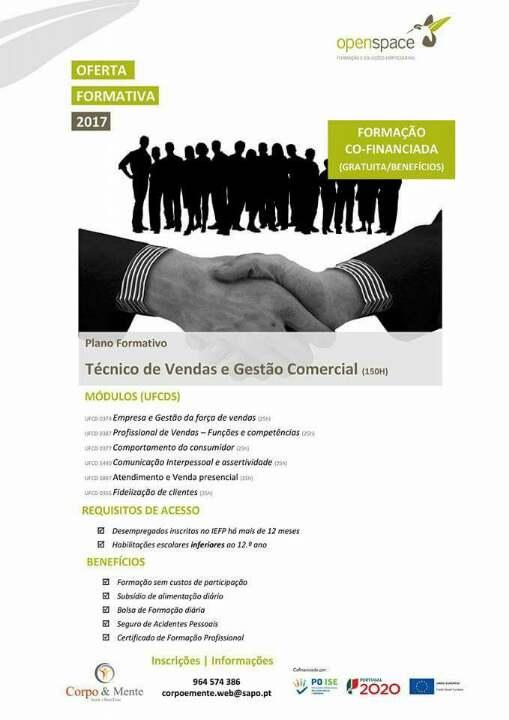 Curso financiado de técnico de vendas em Viana do Castelo