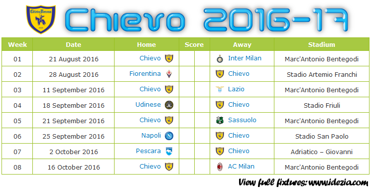 Download Jadwal Chievo Verona 2016-2017 File JPG - Download Kalender Lengkap Pertandingan Chievo Verona 2016-2017 File JPG - Download Chievo Verona Schedule Full Fixture File JPG - Schedule with Score Coloumn