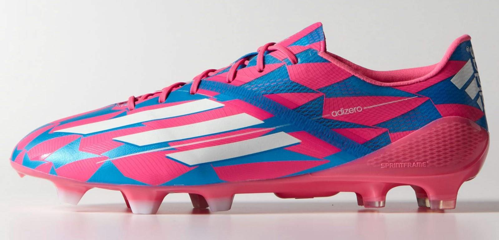 pink adidas adizero iv 201415 boot colorway released