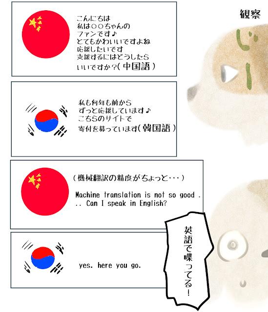 英語 会話 中国 韓国