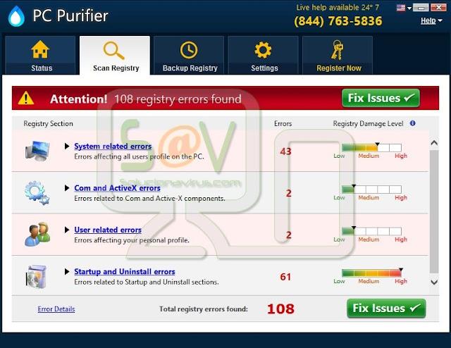 PC Purifier (Falso optimizador)