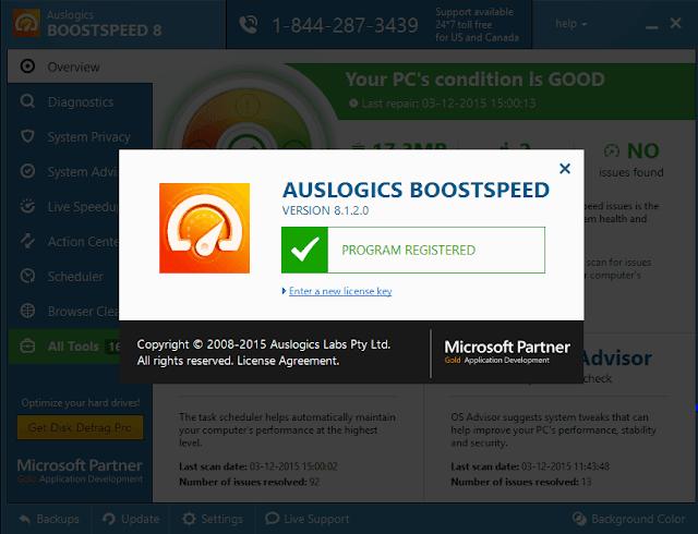 auslogics boostspeed 8 key