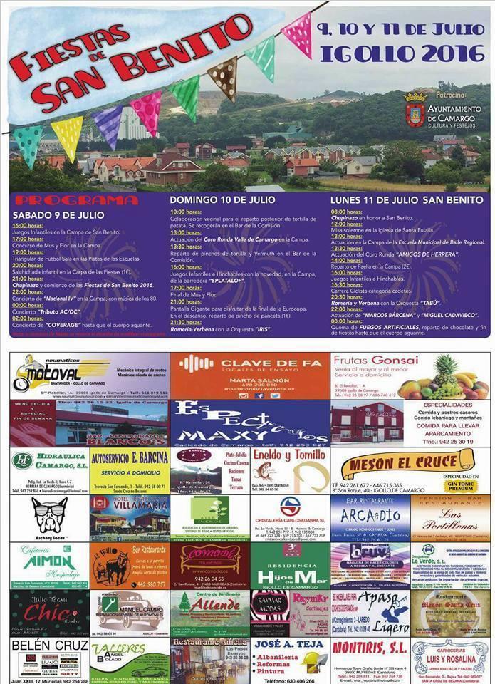 Fiestas de San Benito 2016 en Igollo de Camargo