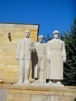 Three Men Statue at Anitkabir