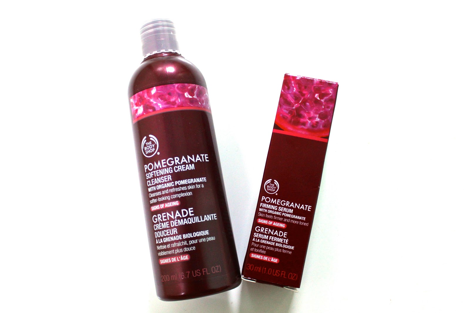 The Pomegranate Anti Ageing Range from The Body Shop