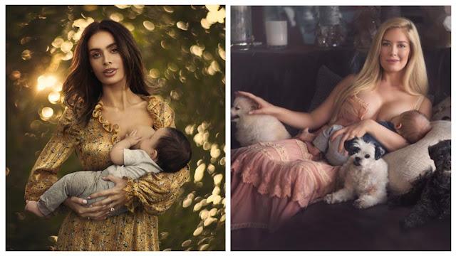 Фотограф делает откровенные снимки кормящих матерей, чтобы показать, насколько это красиво