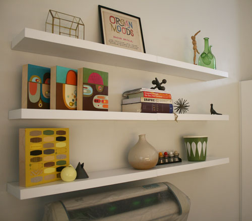 Jenn Ski: Office progress: floating shelves