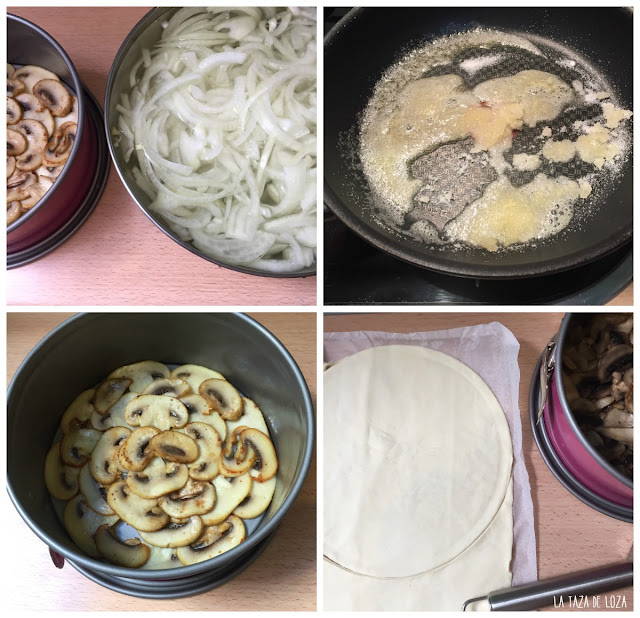 collage-preparación-tatin-de-hongos