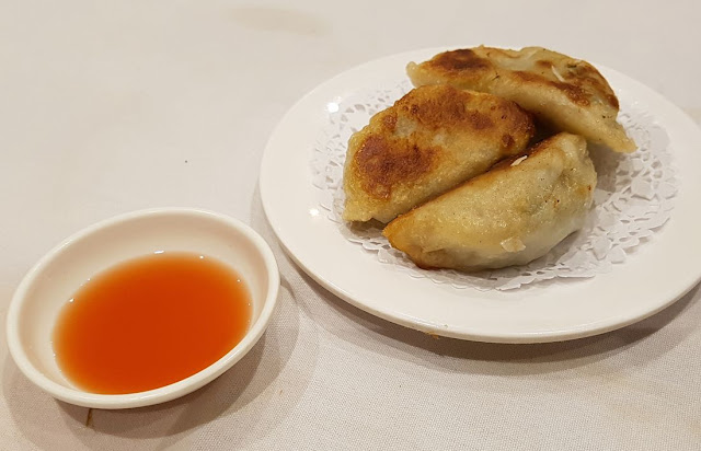 Shark Fin Inn, pan fried dumplings