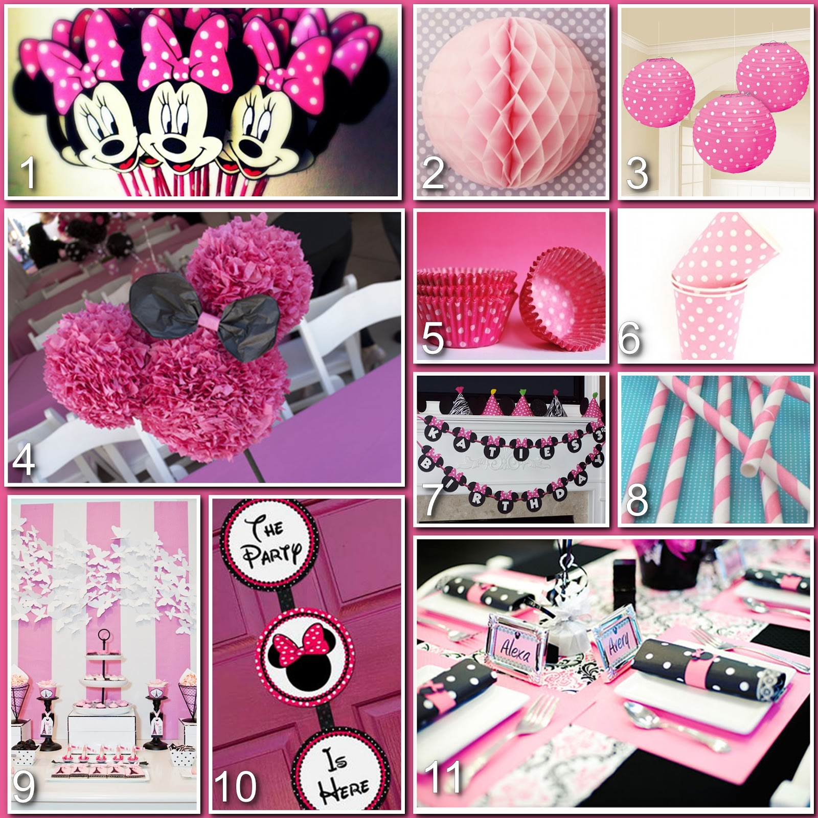 Minnie Mouse Birthday Decoration Ideas Elitflat
