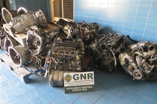Imagem GNR de Vila do Conde recuperou mais de 100 motores de automóveis furtados