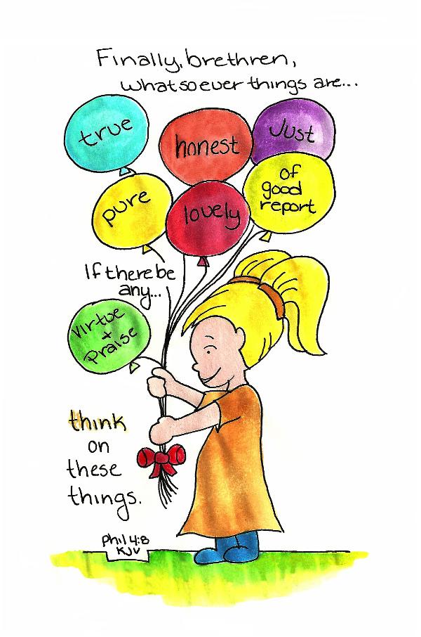 Doodle Through The Bible: Philippians 4:8