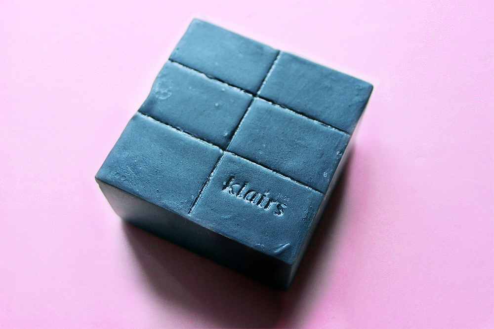 dear Klairs Gentle Black Sugar Charcoal Soap size