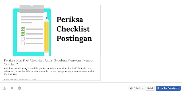 Contoh Post Facebook Share
