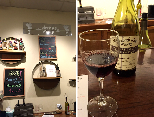 Wine tasting at Massbach Ridge Winery Tasting Room in Galena, Illinois.