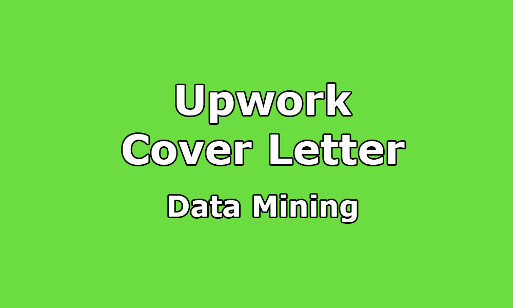 Cover Letter Sample For Data Mining / Analyst / Extraction / Web