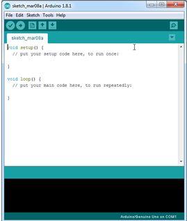 Tampilan software IDE arduino