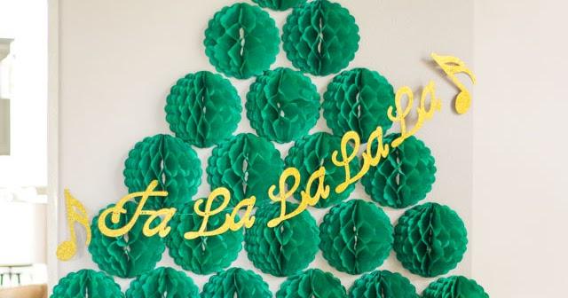 Simple Honeycomb Ball Christmas Tree Design Improvised