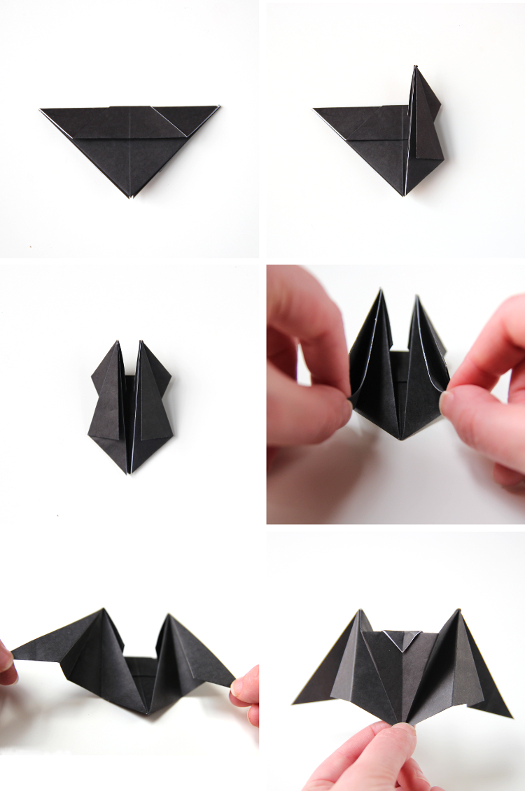 Diy origami bat cupcake toppers gathering beauty for Diy paper origami