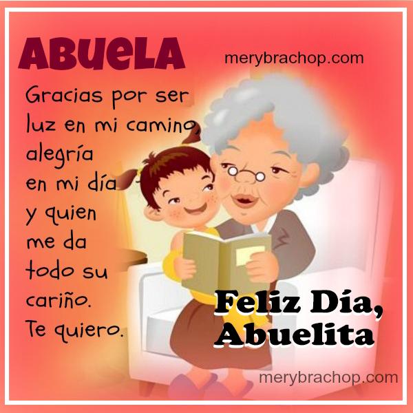 imagen con frases bonitas para mi abuela en feliz dia de la madre o cumpleaños