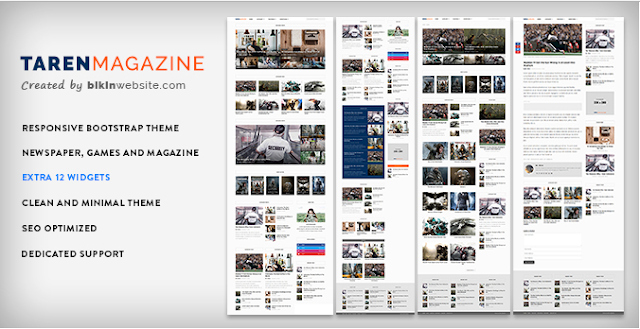 Taren Magazine Theme WordPress Responsive, Mobile Friendly dan Gratis