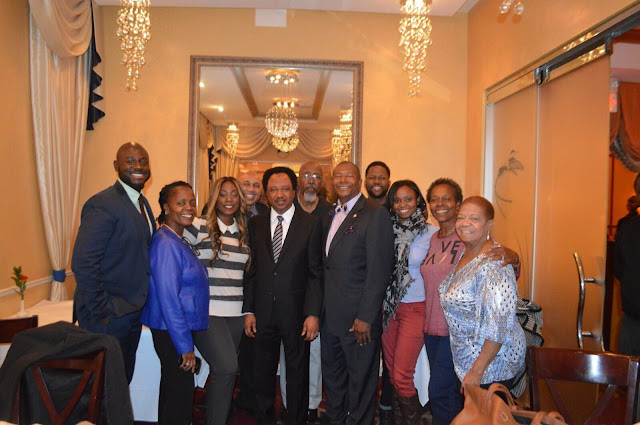 Senator Shehu Sani pays a visit to New York senator