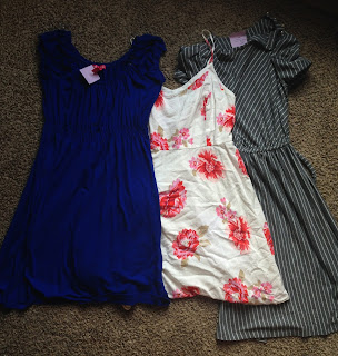 Dresses bought at the Salvation Army to wear to a wedding