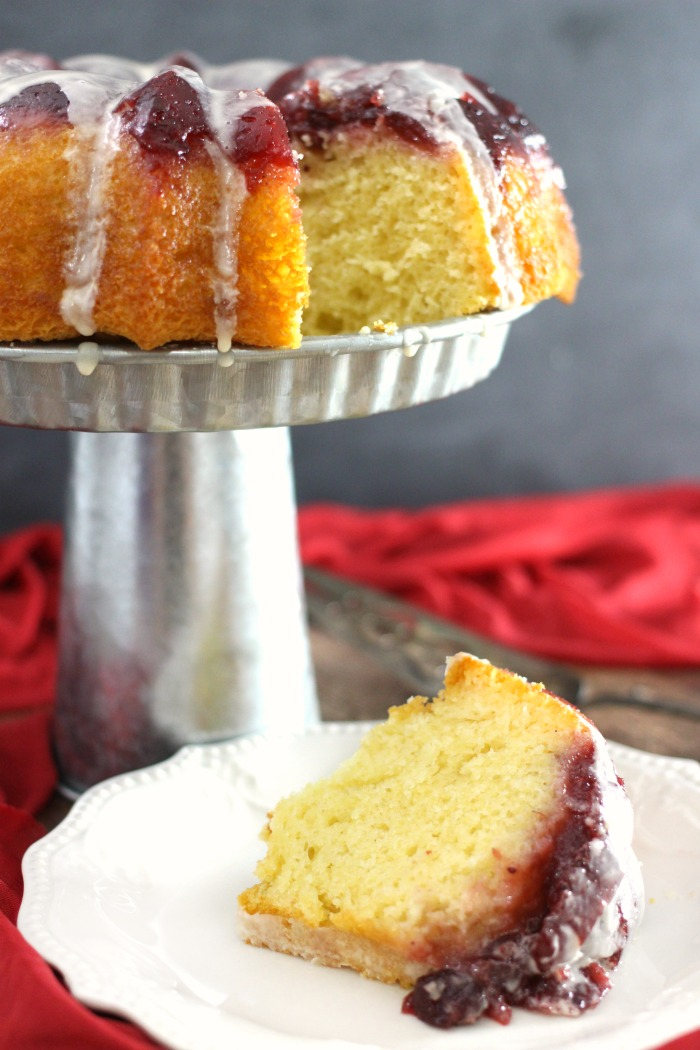 Two Ingredient Easy Cranberry Upside-Down Cake Recipe