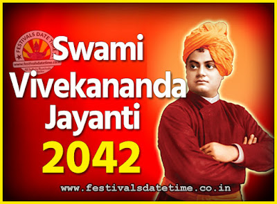 2042 Swami Vivekananda Jayanti Date & Time, 2042 National Youth Day Calendar