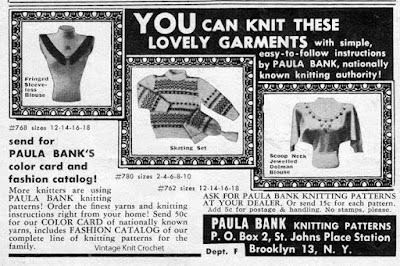 Paula Banks, Knitting Expert, Patterns and Fashion Catalog Offer