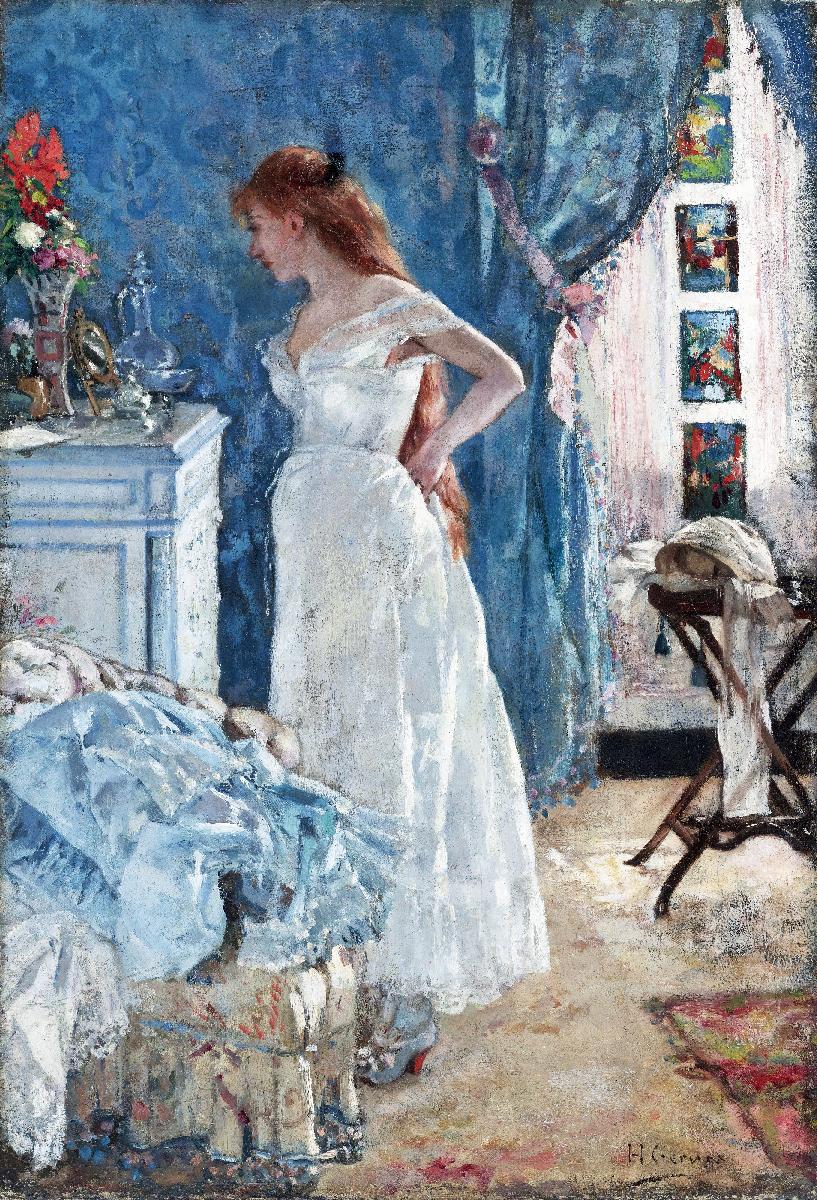 Peinture fran aise du 19 me si cle la toilette 1878 for Peinture toilette