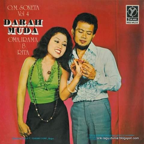 Rita Sugiarto dan Rhoma Irama dalam album darah Muda 1975