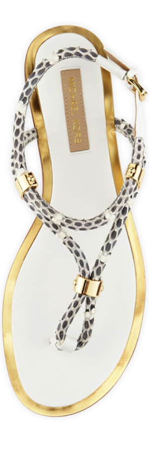 Michael Kors  Hartley Braided Flat Sandal Natural