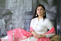 Mannara Chopra in Silky White Salwar Suit with Pink Chunni Latest Exclusive Pics March 2017 ~  007.JPG