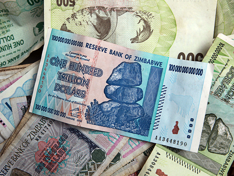 Final Forced Exchange Rate 175 Quadrillion Zimbabwean Dollars 000 Trillion 5 00