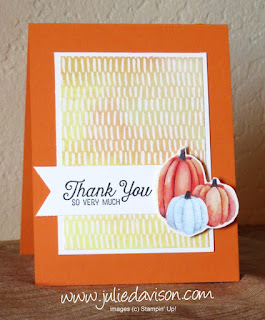 Stampin' Up! Painted Autumn Thank You Card ~2017 Holiday Catalog ~ www.juliedavison.com